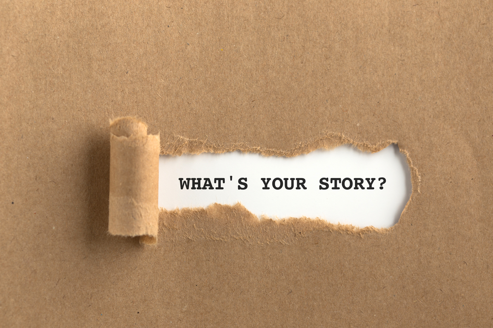 whats your story behind torn brown paper
